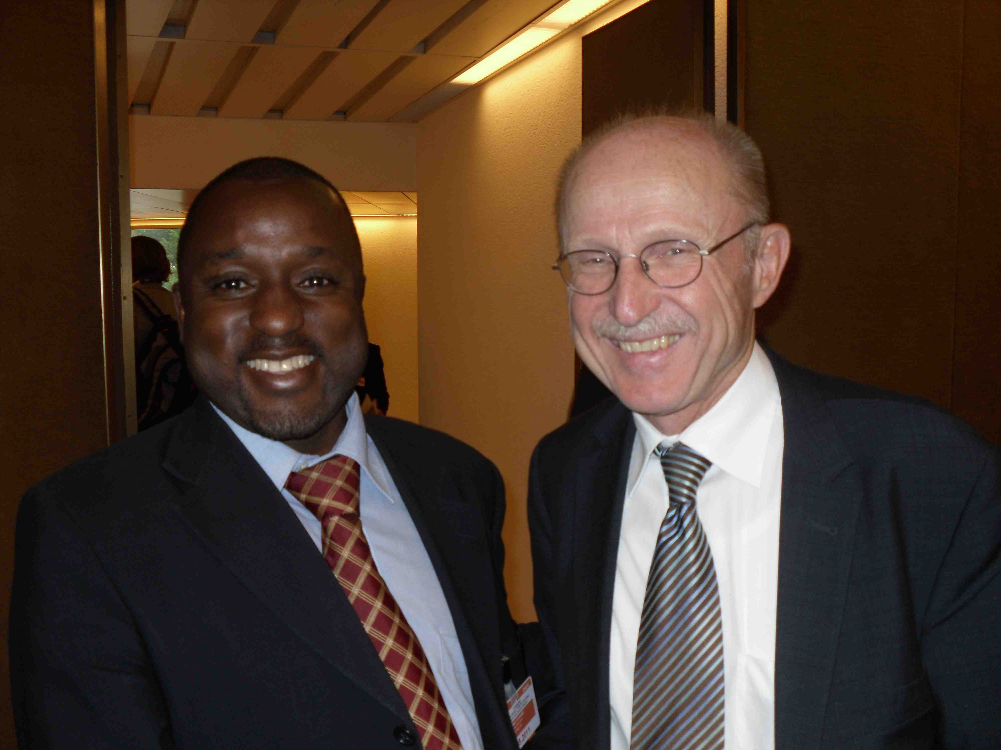 Président de AIPRECAS Charles Djomo - M. Lemke Wilfried Special adviser to the secretary-General on sport for development and peace